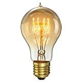 KINGSO E27 40W A19 Ampoules à Incandescence 220V Rétro Edison Ampoules Antique Lampe