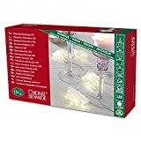 Konstsmide 3193-103 Guirlande d'Eclairage de Déco Papillon en Papier Intérieur 12 LEDs 24 V Blanc Chaud Câble Transparent