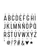 Lampe à poser - Set de Lettres Noires Supplémentaires pour Lightbox