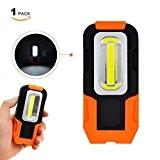 Lampe de Torche LED Lampe Baladeuse a 3W COB LED Batterie Portable Ultra Puissante avec Base Magnétique Lot de 1 ...