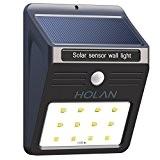 Lampe Solaire Jardin led sans fil, Holan 12 LED Luminaire Exterieur Détecteur de Mouvement avec Modes Intelligents / Eclairage Exterieur ...