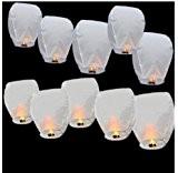 Lanternes aériennes/volantes - respectueuses de l'environnement - lanternes de Noël, nouvel an chinois, nouvel an, mariages, fêtes (40x58x105 cms) - ...