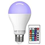 LE Dimmable Ampoules LED 10W A70 E27, RGB, Multicolore, Équivalente à une Ampoule Incandescente 60W, 180 ° Angle de Faisceau, ...