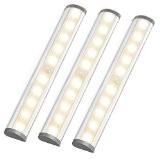 LE Lot de 3 Lampes de Placard LED avec détecteur de mouvements, Blanc Chaud 3000K, Super Lumineuses, Veilleuse Sans Fil, ...