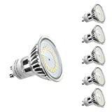 LE Lot de 5 unités, Ampoule LED GU10 MR16 3.5W, Équivalent à Ampoule Halogène 50W, 350lm, Blanc Chaud, 3000K, 120° ...