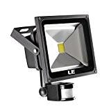 LE Projecteur LED avec Détecteur de Mouvement, 2100lm Extra Lumineuse Equivalant à 75W HPS, Blanc Du Jour 6000K, Imperméable IP65, ...