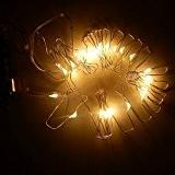 LED Guirlande Lumineuse 50LED 5M/16ft 3x pile AA Éclairage de Noël Guirlande à étoiles [Classe énergétique A +] blanc chaud