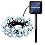 lederTEK solaire Propulsé fée des fleurs Guirlandes 6M 30 LED fleur de Lotus de Noël Lampe décorative pour extérieure, jardin, ...