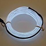 Lerway 3M Fil Neon Flexible EL Wire Lumière, LED Cable Lampes avec Boite a Pile pour Club, Parti de Noel, ...