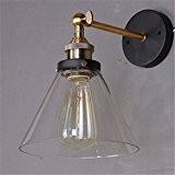 Lightess Applique Murale Interieur Vintage Edison Lampe Murale Style Industriel avec Abat-jour en Verre style campagne E27 220V Décoration Pour ...