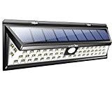 Litom 54 LED Lampe Solaire à Détecteur de Mouvement, Éclairage de Sécurité à Grand Angle 120°avec 3 Modes Intelligents, Super ...