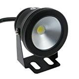 LMtreeÂ-Noir-IP68 10w Blanc Chaud 12 V Spot LED étanche Éclairage de bassin de jardin l'eau pour Aquarium Réservoir