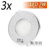 Lot Aqua slim 230V-Chromé-avec LED 7W blanc chaud avec douille GU10Spot Plafonnier Luminaire Salle de Bain IP44spot Spots Encastrables Moderne ...