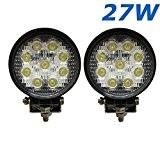 """Lot de 2 lampes de chantier, phare, bateau, automobile, camion, véhicule industriel type 4x4 à LED 4,3"""" de 2565 Lumens, ..."""