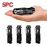 MakeTheOne 7W Mini Cree Q5 Lampe de Poche Torche 350LM 5pc Zoomable Etanche 3 Modes