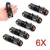 MakeTheOne 7W Mini Cree Q5 Lampe de Poche Torche 350LM Zoomable Etanche 3 Modes