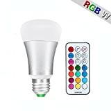 Minger 10W Ampoules LED RGBW (Rouge Vert Bleu et Blanc) Changement de Couleur Dimmable LED Bulbs E27 Magique Lampes d'ambiance ...
