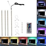Minger 4x 50cm Ruban à LED RGB / RVB Bande Strip Flexible IP65 Etanche SMD 5050 Avec 5V USB Câble ...