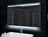 Miroir avec cadre en aluminium + éclairage LED 120x60cm
