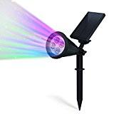 MOHOO Lampe Solaire Jardin / Feux de Capteurs, 4 Source Lumineuse LED, IP65 Etanche, Angle Réglable de 90 Degrés, Eclairement ...