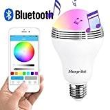 Morpilot LED Ampouleintelligente E27 Bluetooth 4.0 haut-parleur / Lampe du soir RGB avec Bluetooth intégré / Audio mini enceinte + ...