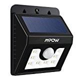 Nouvelle Version] Mpow Lampe Solaire LED Etanche Faro Lumiere 8 LED/ Luminaire exterieur Sans Fil avec Détecteur de Mouvement/ Eclairage ...