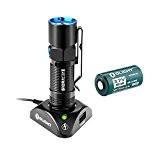 Olight® S10R Baton II Lampe de Poche Rechargeable LED Cree XP-L 500 Lumens + 1 x Batterie RCR123A 650mAh, Petite ...