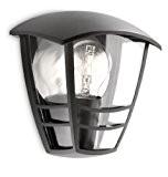 Philips Luminaire Extérieur Applique Murale Creek Noire 1x60W 230V