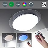 Plafonnier LED Lampe LED à intensité variable couleur changeante 16 couleurs au choix Télécommande Lampe Salon Lampe Plafonnier LED Spot LED ...