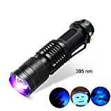 Pocketman 7 W 300LM Sk-68 3 modes Mini LED Cree Q5 Lampe de poche torche lampe tactique mise au point réglable Zoom Light (Noir) ...