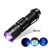 Pocketman 7W 300LM Sk-683modes Mini LED Cree Q5Lampe de poche torche lampe tactique mise au point réglable Zoom Light (Noir) ...