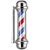 Poteau de barbier sans sphère lumineuse pour coiffeurs 23x68 cm