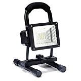 Projo Led Portable et Rechargeable, Lampe Torche Super Brillant 15W Etanche et Leger, 360°Rotatif Multifonctionel Projeceur pour Activites Exterieur et ...