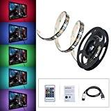 Ruban à LED RGB HDTV OMorc LED Bande Flexible Etanche avec Port USB Kit de Rétroéclairage Coloré LED Strip Light ...