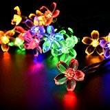 Salcar Guirlande Lumineuse Solaire, 5 mètres de chaîne de lumière LED solaire 20 cerise fleur éclairage de décoration pour les ...
