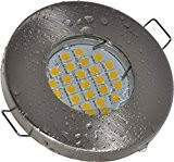 Salle de bain Spot IP65| couleur acier inoxydable brossé | 12V GU5.3MR1612V AC/DC 5W LED blanc chaud 2700K 450lumens | ...