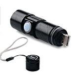 SANKA USB Mini 350 Lumens Rechargeable & zoomables Cree LED lampe de poche / Torch Avec 3 modes pour Camping, ...