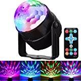 Scene Lampe, GLISTENY Disco Lumiere Telecommande Stade Light RGB LED Commande Controle Sonore Boule Cristal Ampoule Projecteur Multicolore Eclairage Pour ...