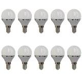 Set x 10 - 4123 - V-TAC - Ampoule bougie LED - Culot E14- 4W Consommés (Équivalent 30W Incandescent) - ...
