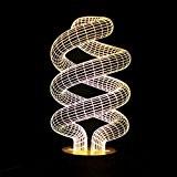 SHENNOSI Lampe Visualisation 3D incroyable Glow LED Night Light-Bulb Art Sculpture allume en Produit Unique Effets lumineux Cartoon et Illusion ...