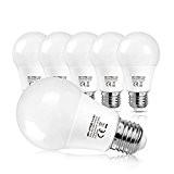 SHINE HAI Ampoule LED E27 A60 8W, Equivalent 60W à Ampoule Halogène/Incandescente, Blanc Froid 6500K, Lampe LED Sphérique, 800lm, Angle ...
