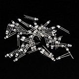 SODIAL(R) 100pcs 3mm Lumiere Rouge LED Light Emitting Diode