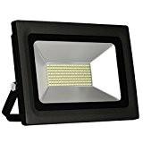Solla® Projecteur Extérieur LED 60W, Eclairage de sécurité, Equivalent à ampoule halogène 600W, 4800lm, Imperméable IP65, Blanc chaud 3000K