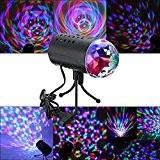 SOLMORE 220V Lampe de Scène RGB LED Jeux de Lumière Disco Projecteur Effet DJ Éclairage Spot Ampoule Boule Cristal Commande ...