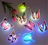 SOLMORE LED Papillon 7 Changement de Couleurs avec Ventouse Guirlande Lumineuses pour Décoration de Mariage / Noël / Fête / ...