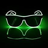 SOLMORE Lunettes Lumineuse LED EL Fil Néon 3 Mode d'Éclairage avec Boîte de Batterie Décoration Guirlande Spéciale Déguisement de Soirée ...
