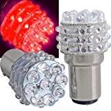 Sonline2X T25 LAMPE AMPOULE BULB 36 LED LUMINEUX ROUGE VOITURE