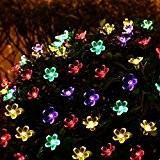 Splink Guirlande Lumineuse Solaire, 27.5Ft/7M Guirlandes Lumineuses Imperméable 50 Fleurs à LED, Décoration Extérieure et Intérieure pour Maison, Jardin, Mariage, ...