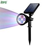 Spot solaire à LED à énergie solaire murale d'extérieur LED, anfei imperméable, 180 ° angle réglable, piquet la nuit/arrêt automatique ...