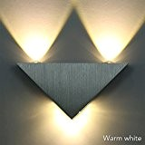 Sunix® Applique de triangle, Applique murale LED blanc chaud lampe hall Couloir KTV, lumières décoratives LED